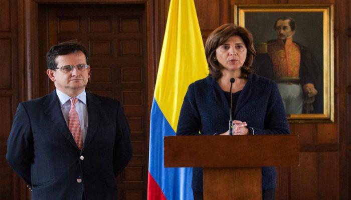 María Ángela Holguín y ricardo lozano
