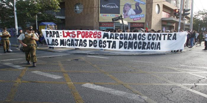 Papa Chile protestas 2