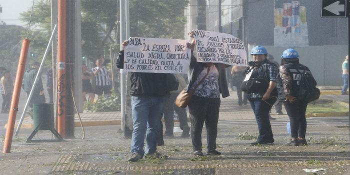 Papa Chile protestas 3