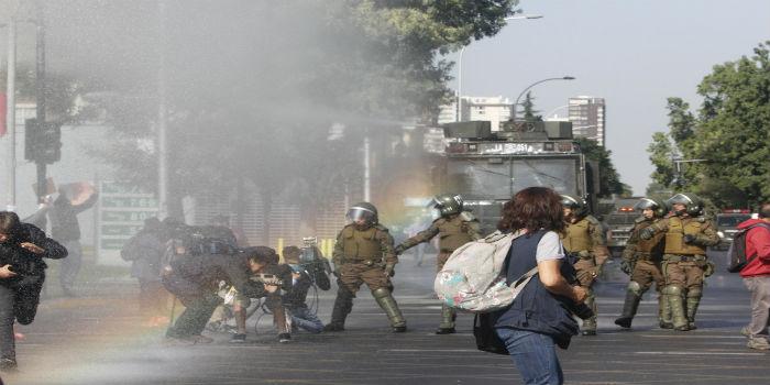 Papa Chile protestas 4