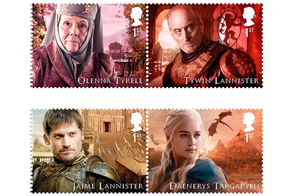 Servicio postal del Reino Unido venderá sellos de Juego de Tronos 3