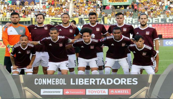 Jugadores de Carabobo FC en Copa Libertadores