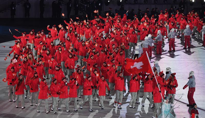 inauguracion juegos olimpicos de invierno PyeongChang 1 delegacion suiza