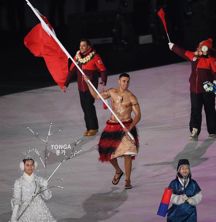 inauguracion juegos olimpicos de invierno PyeongChang 1 delegacion tonga