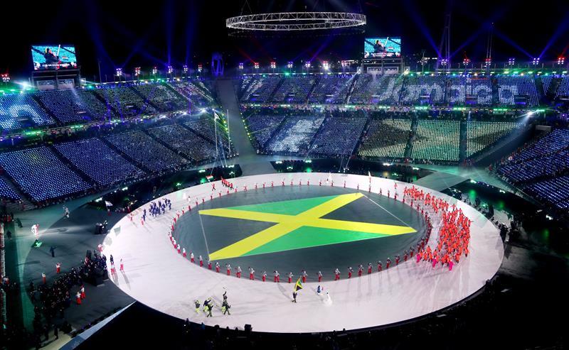 inauguracion juegos olimpicos de invierno PyeongChang 17 delegacion jamaica