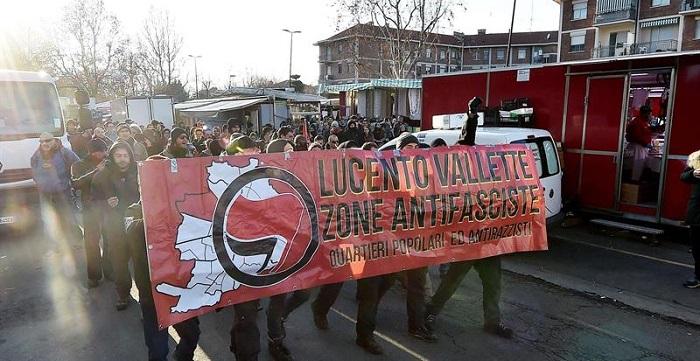 protesta contra el fascismo y racismo italia 4