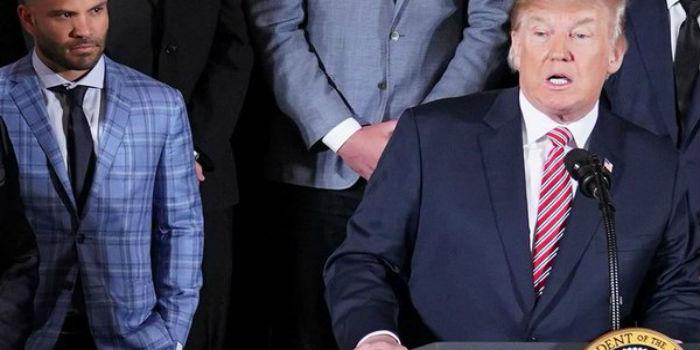 José Altuve y Donald Trump