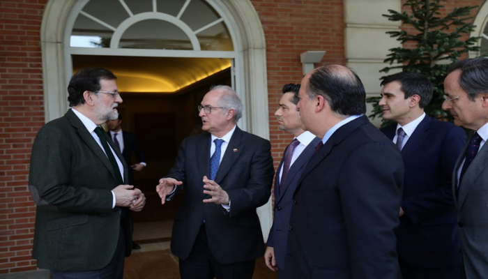 Rajoy recibe en La Moncloa a Borges Vecchio y Ledezma 1