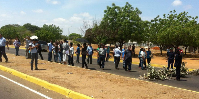 protesta trabajadores maracaibo