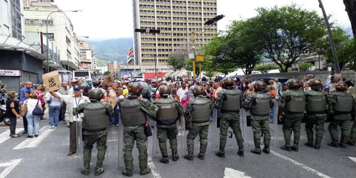 Protesta pensionados