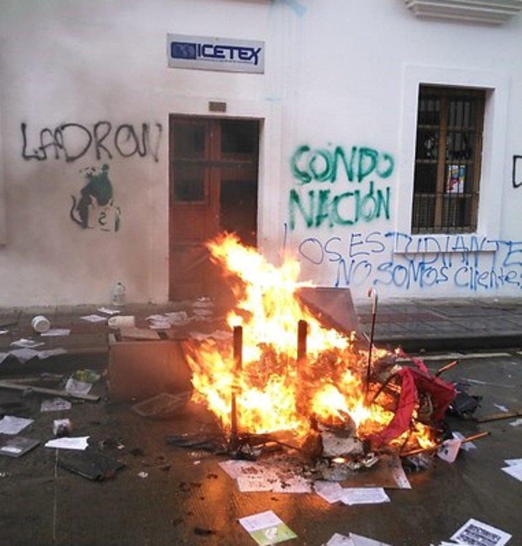 Protestas estudiantes en Bogotá