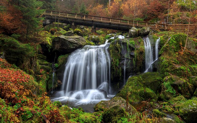 cascadas de Triberg en la Selva Negra, alemania