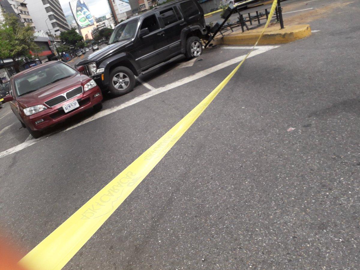Choque camioneta - secuestro en Chacao