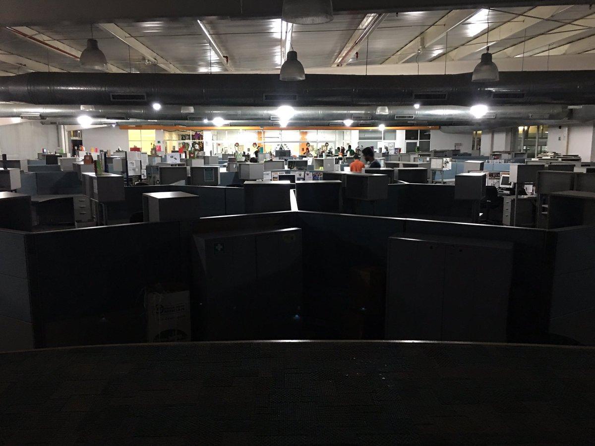 Sala de redacción de El Nacional