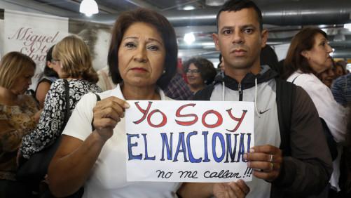 Trabajadores del diario El Nacional