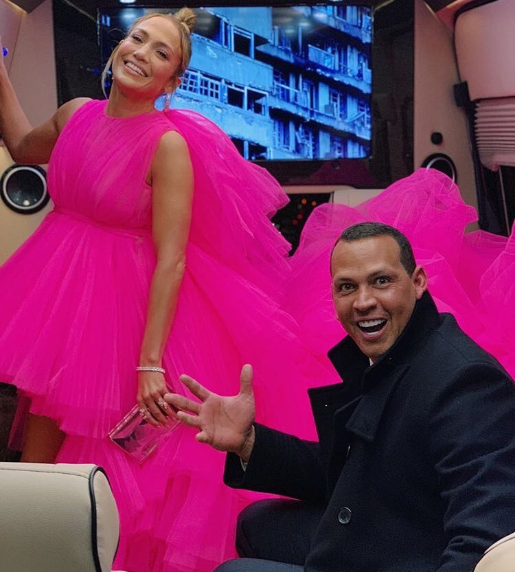 Vestido Jennifer López con Arod