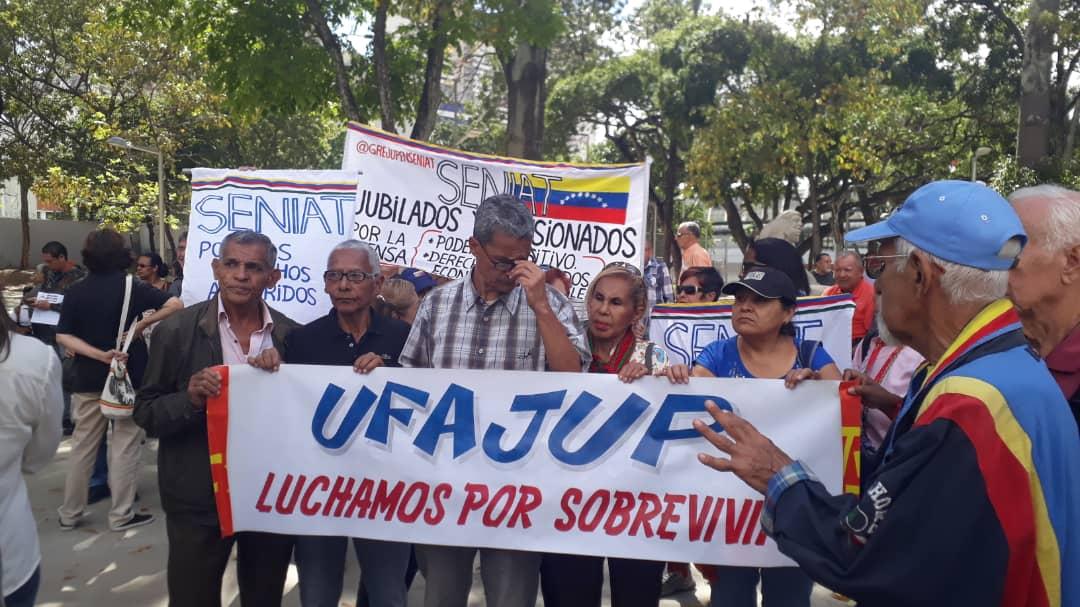jubilado y pensionados protestan