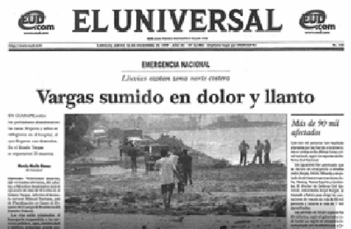 Portada El Universa del 16 de diciembre de 1999